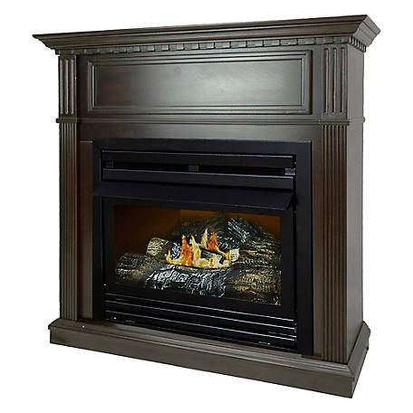 Pleasant Hearth 42 in. Natural Gas Tobacco Fireplace, VFF-PH26NG-T1