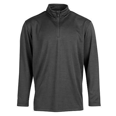Blue Mountain Men's Long Sleeve 1/4 Zip Fleece Sweater