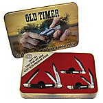 Old Timer Limited Edition 3-Pack Pocket Knives with Gift Tin, 1105624