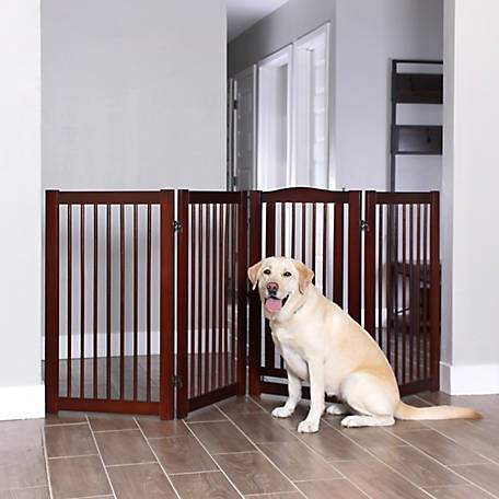 Primetime Petz 360 Configurable Gate With Door 36 in. Walnut, 33238