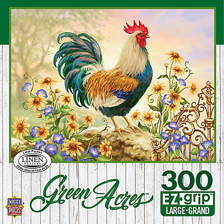 Masterpieces Green Acres 300 Piece EZ Grip Puzzle Assortment, Linen Finish, 51804