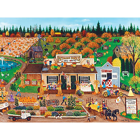 Masterpieces Homegrown 750 Piece Puzzle Assortment, Linen Finish, 51823
