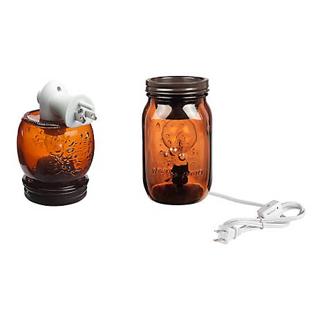 Red Shed Mason Jar Wax Warmer Set, Amber