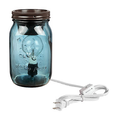 Red Shed Plug-In Mason Jar Wax Warmer, Blue