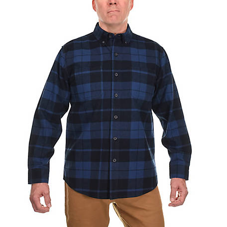 Ridgecut Men's Long Sleeve Heavy Plaid Flannel