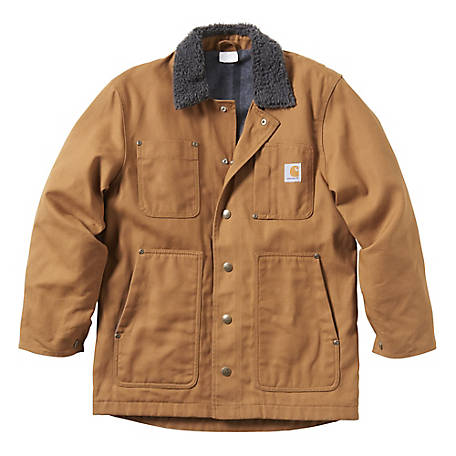 Carhartt Boys' Fleece-Lined Chore Coat