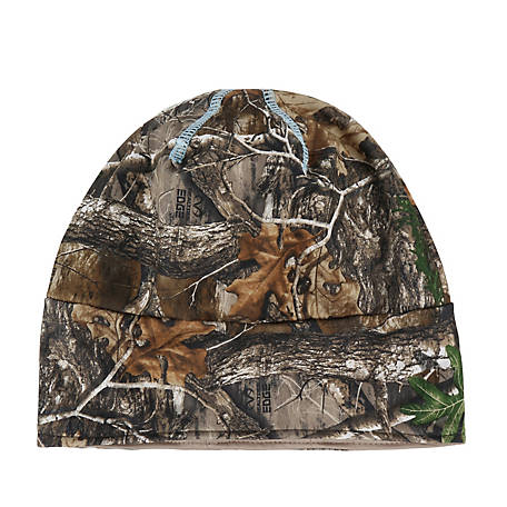 Realtree Ladies' Reversible Beanie with Ponytail Opening, Camo