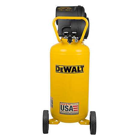 DeWALT 27 gal. 175 PSI Portable Vertical Electric Air Compressor, DXCM272