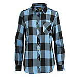 Blue Mountain Women's Long Sleeve Plaid Flannel