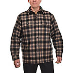 Ridgecut Men's Long Sleeve Quilted Plaid Shirt-Jacket