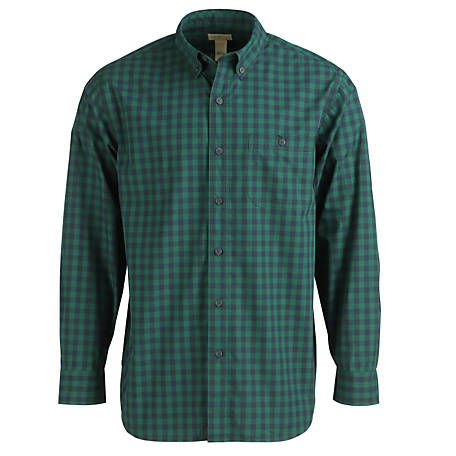 Blue Mountain Men's Long Sleeve Poplin Shirt