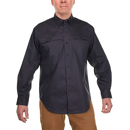 Ridgecut Men's Long Sleeve Solid Twill Shirt
