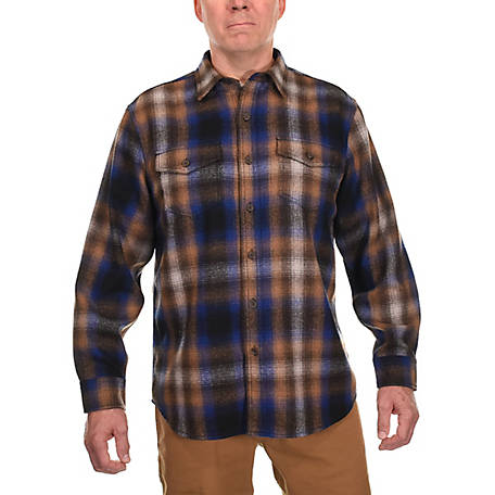 Ridgecut Men's Long Sleeve Plaid Wool Shirt