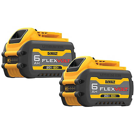 DeWALT Flexvolt Double Pack Battery (6Ah), DCB606-2