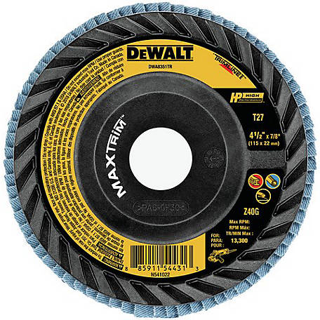 DeWALT 4- 1/2 in. 60 Grit Trimmable Flap, 4 Pack, DWA8351TRP4