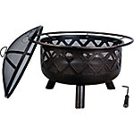 Bond 32 in. Round Steel Fire Pit with Lid, 51618