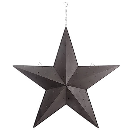 Red Shed 48 in. Light Up Galvanized Barn Star, Black
