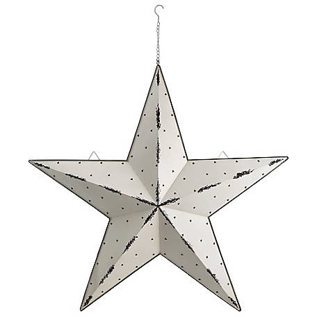 Red Shed 48 in. Light Up Galvanized Barn Star, White
