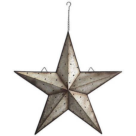 Red Shed 36 in. Light Up Galvanized Barn Star