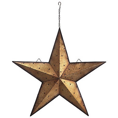 Red Shed 36 in. Light Up Galvanized Barn Star, Gold