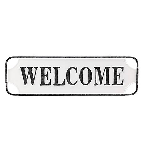 Red Shed Large Metal Sign-Welcome