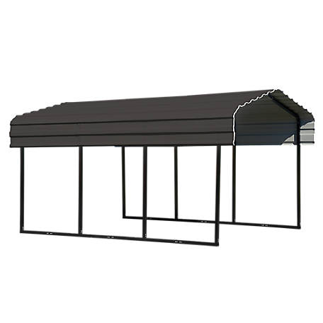 Arrow Steel Carport 10 x 15 x 7 ft. Glazed, CPHC101507