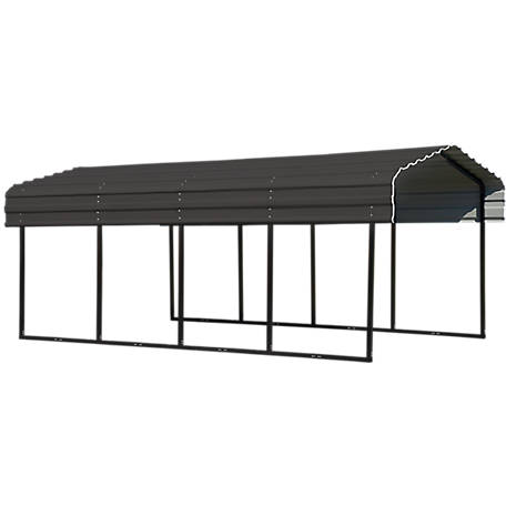Arrow Steel Carport 10 x 20 x 7 ft. Glazed, CPHC102007