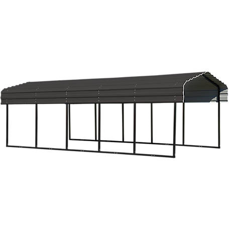 Arrow Steel Carport 10 x 24 x 7 ft. Glazed, CPHC102407