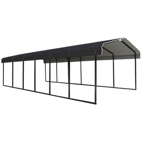 Arrow Steel Carport 12 x 29 x 7 ft. Glazed, CPHC122907