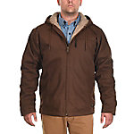 Ridgecut Men's Sherpa-Lined Super-Duty Sanded Duck Hooded Jacket