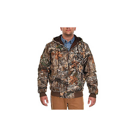 Ridgecut Men's Quilt-Lined Camouflage Hooded Jacket