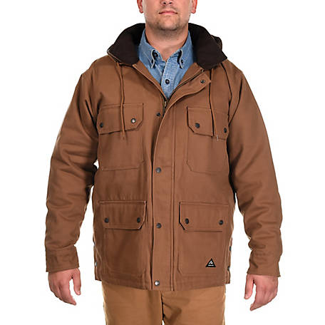 Ridgecut Men's Quilted Fleece-Lined Super-Duty Sanded Duck Contractor Coat
