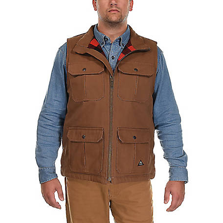 Ridgecut Men's Quilted Fleece-Lined Super-Duty Sanded Duck Vest