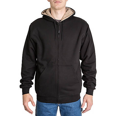 Ridgecut Men's Sherpa-Lined Zip Front Hooded Sweatshirt