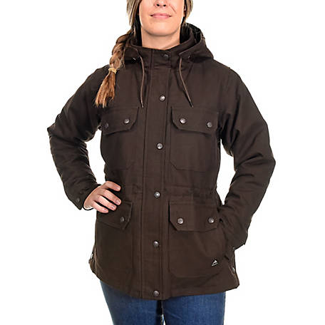 Ridgecut Women's Quilted Fleece-Lined Sanded Duck Ranch Coat