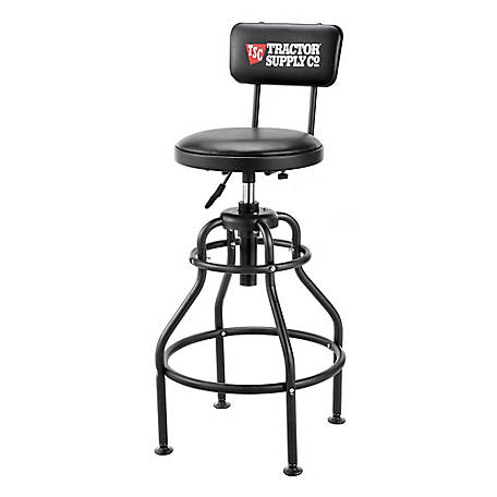 Tractor Supply Pneumatic Shop Stool with Backrest, JA-SS-002B