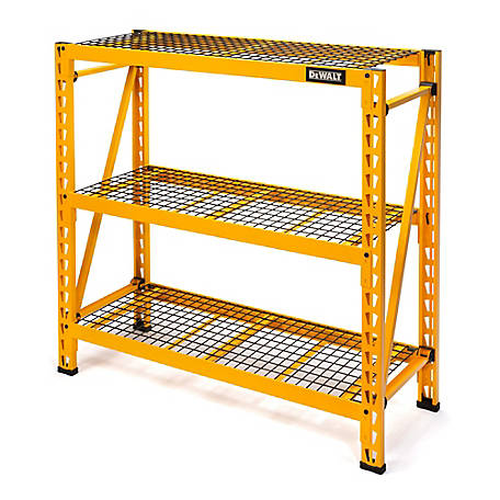 DeWALT 4 ft. 3-Shelf Steel Wire Deck, Industrial Storage Rack, DXST4500-W