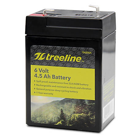 Universal Power Group 6V 4.5Ah F1 AGM Battery, 45953