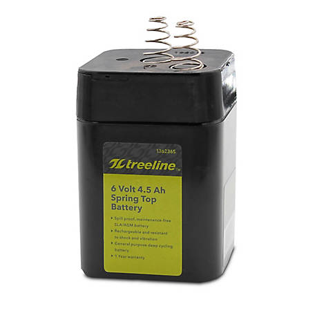 Universal Power Group 6V 5Ah Spring Top AGM Battery, 45954
