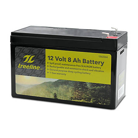 Universal Power Group 12V 8Ah F1 AGM Battery, 45955