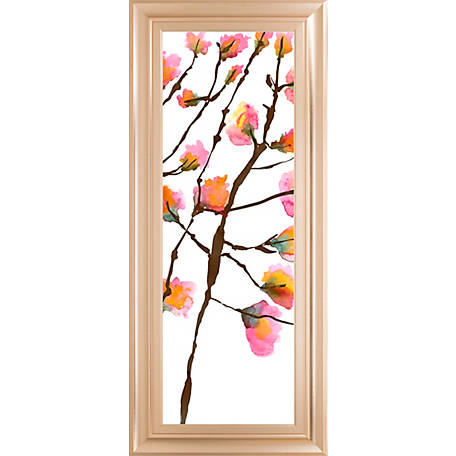 Classy Art 18 In X 42 In Inky Blossoms Ii Print Framed Wall Art 1838 At Tractor Supply Co