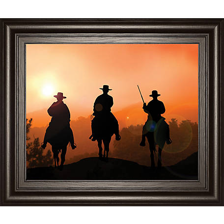 Classy Art 22 in. X 26 in. Horse Riders Framed Print, 8258