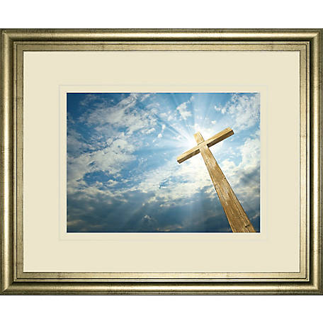Classy Art 34 in. x 40 in. Cross In The Sky Print, DM5561