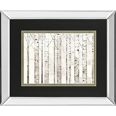Classy Art 34 in. x 40 in. Birch Trees On White Art, DM5763MF
