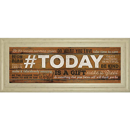 Classy Art 18 in. X 42 in. Today Is A Gift Print, 1626