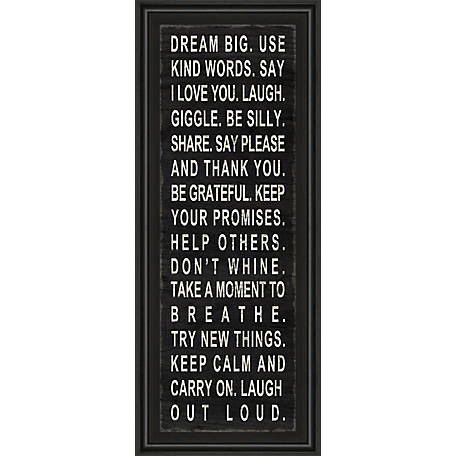Classy Art 18 in  x 42 in  Dream Big Framed Print, 1416 at Tractor