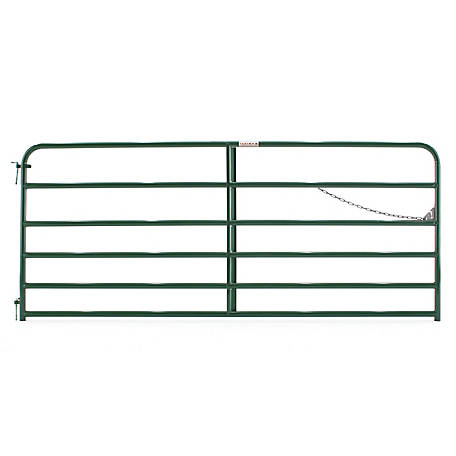 Tarter 6-Bar Economy Tube Gate, Green, 10 ft., 6EG10