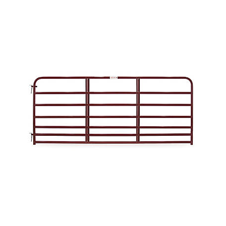 Tarter 7 Bar Heavy Duty Standard Bull Gate 10 Ft Red Rrb10 At Tractor Supply Co