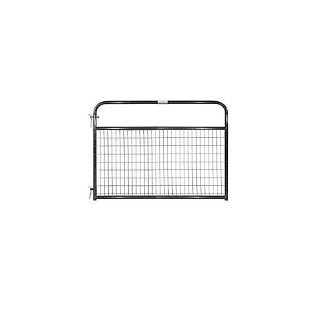 Tarter Wirefilled Gate, Black, 6 ft., 2 in. x 4 in. Mesh, WFGBL6