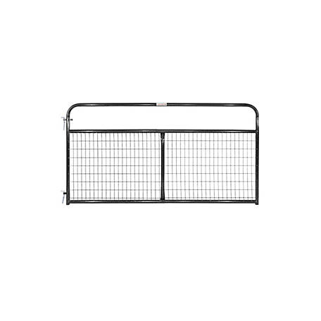 Tarter 2 in. x 4 in. Mesh Wirefilled Gate, Black, 8 ft., WFGBL8